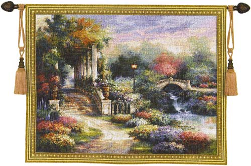 Tapestry Classic Garden Retreat - Beautiful Garden Picture, 53in x 42in