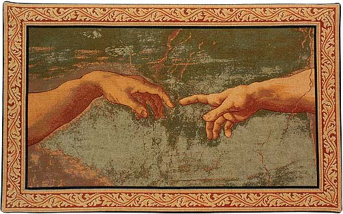 Creation By Michelangelo Wall Tapestry Painting - Fragment, 24in X 39in