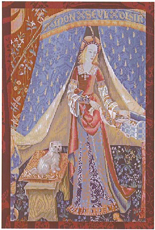 THE LADY AND THE UNICORN TAPESTRY WAll HANGING - A MON SEUL DESIR (One Of The Famous Medieval Tapestries)