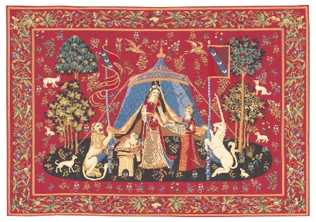 LADY AND THE UNICORN TAPESTRY WAll HANGING - A MON SEUL DESIR III (One Of The Famous Medieval Tapestries)