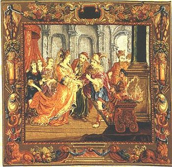 RENAISSANCE TAPESTRY WALL HANGING SOLIMAN