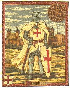 Medieval Tapestry Templier - Knight Picture
