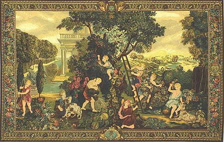 RENAISSANCE TAPESTRY WALL HANGING THE KIDS GARDENERS