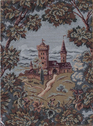 Medieval Wall Tapestry Castle - Pictures Of Castles Collection, 11.2in X 14.4in