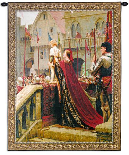 A Little Prince Tapestry Wall Hanging - from a painting of Leighton, 41in x 53in