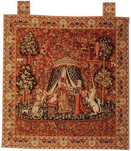 LADY AND THE UNICORN TAPESTRY WAll HANGING - A MON SEUL DESIR (One Of The Famous Medieval Tapestries)