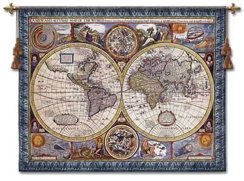A New and Accurate Map Wall Tapestry, 45in x 37in