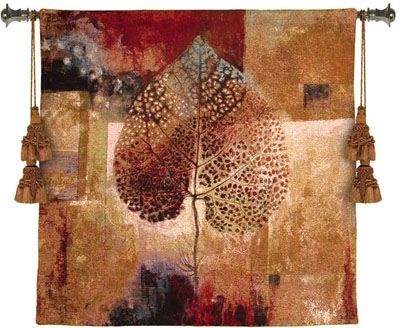 Abstract Autumn Modern Tapestry Fine Art Picture, 53in x 53in