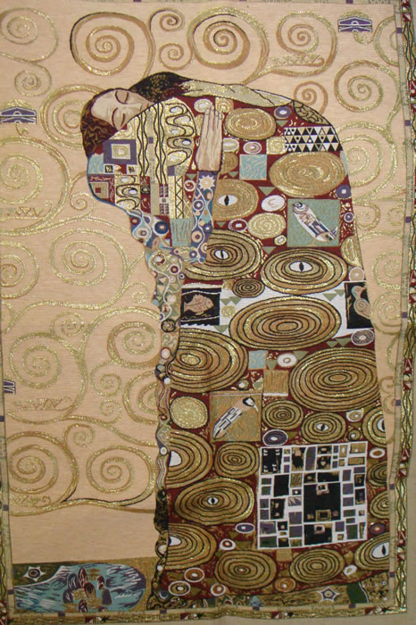 Accomplissement Klimt III Tapestry Wall Hanging, H43.2in x W28in