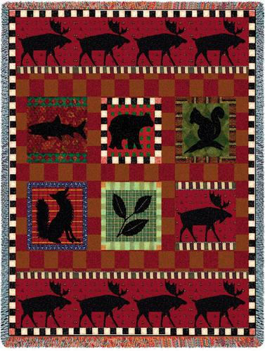 Adirondack Lodge Tapestry Throw, 53in x 70in