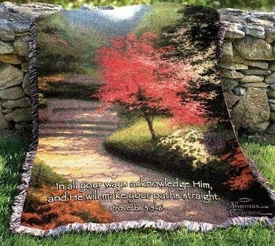 Afternoon Light Dogwood Tapesty Throw, 51in x 68in