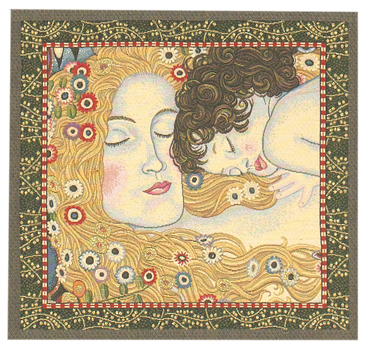 Klimt Ages Of Women Cushion Cover, 18in x 18in unfinished panel