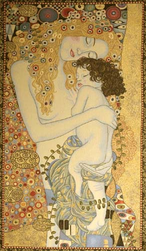 Ages Of Women Romantic Tapestry Wall Hanging - Gustav Klimt Art, 44in X 24in