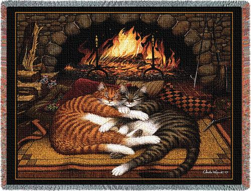 All Burned Out Tapestry Throw, 54in x 70in