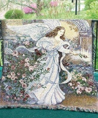 Angel of Love Tapesty Throw, 51in x 68in