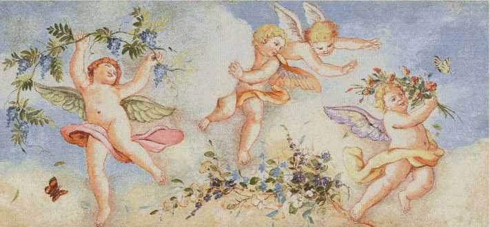 Dance of Angels III Tapestry Wall Hanging, H28inx W56in