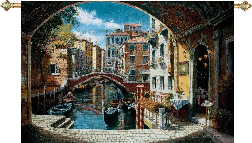 Archway to Venice Tapestry Wall Hanging, H71in x W48in