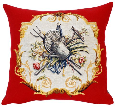 Arrosoir Tapestry Cushion Cover - European Home Decor Collection, 18in x 18in cushion cover