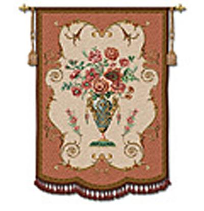 Aubusson Ornamental Wall Tapestry - Floral Design, 53in x 72in