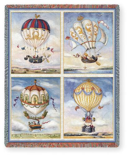 Balloon Collage Tapestry Throw, 53in x 70in