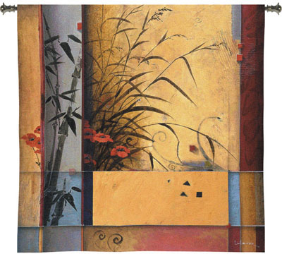 Bamboo Division Contemporary Tapestry Fine Art Picture, 53in X 53in