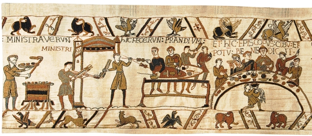 Bayeux Banquet II Tapestry Wall Hanging, 36in x 85in