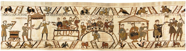 Bayeux Banquet Tapestry Wall Hanging, 27in x 98in
