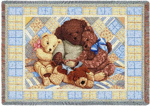 Bear Hugs Mini Tapestry Throw, 54in x 35in