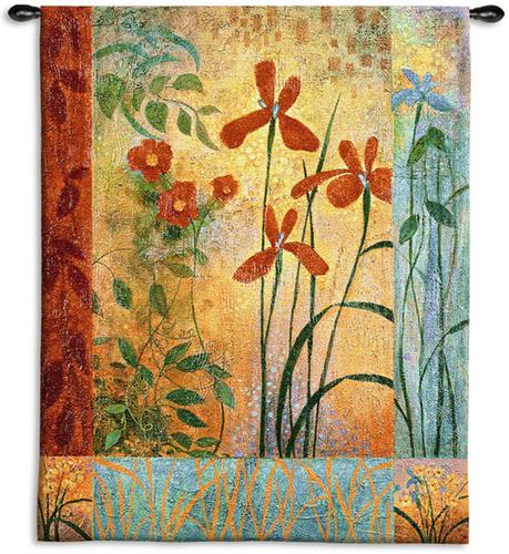 Bedazzle Tapestry Wall Hanging - Botanical Composition, 42in x 53in