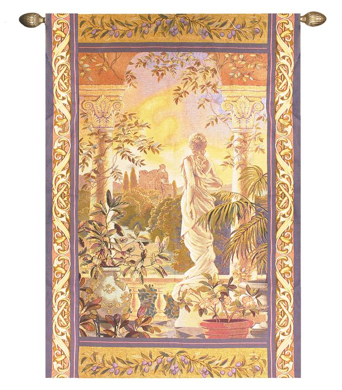 Belladonna Tapestry Wall Hanging - Romantic Woman Picture, 56in X 80in