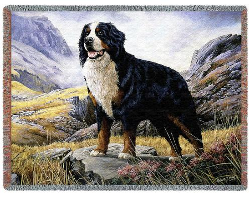 Bernese Mountain Dog Tapestry Throw, 54in x 70in