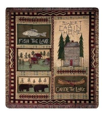 Big Bear Lodge Tapesty Throw, 50in x 60in