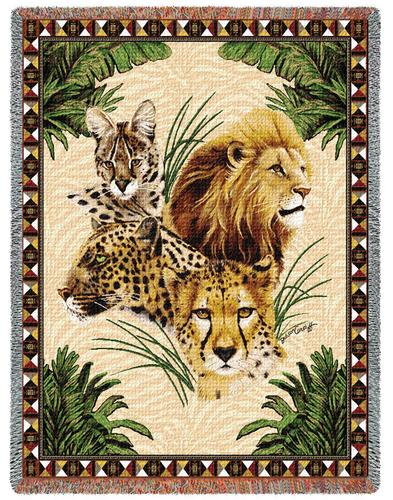 Big Cats Tapestry Throw, 53in x 70in