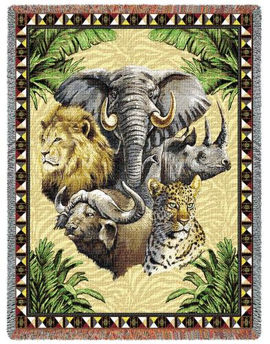 Big Five Tapestry Throw, 53in x 70in