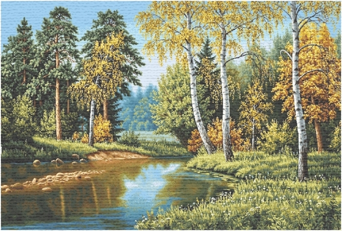 Birch Forest II Tapestry Wall Hanging, H56in x W82.8in