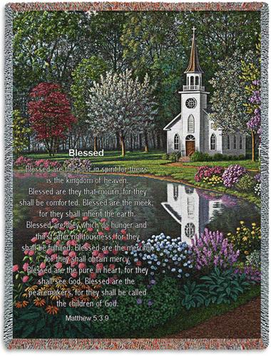 Blessed Tapestry Throw, 53in x 70in
