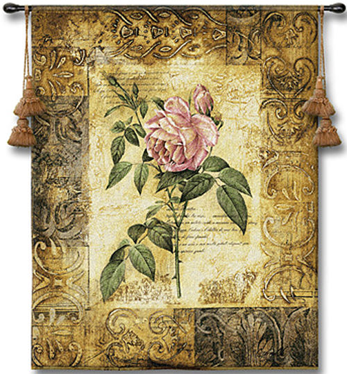 Blossoming Elegance I Botanical Tapestry - Contermporary Floral Design, 26in x 32in