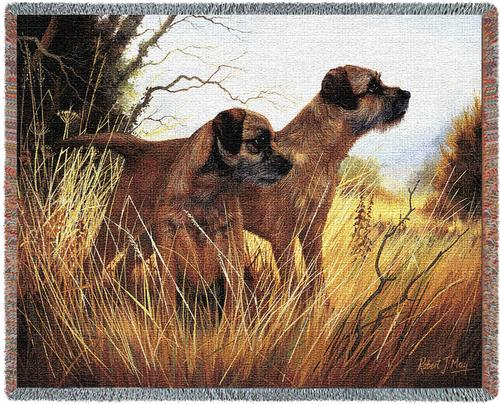 Border Terrier Tapestry Throw, 70in x 53in