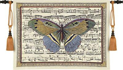 Butterfly Dance II Tapestry Wall Hanging - Music Picture, 36in x 27in