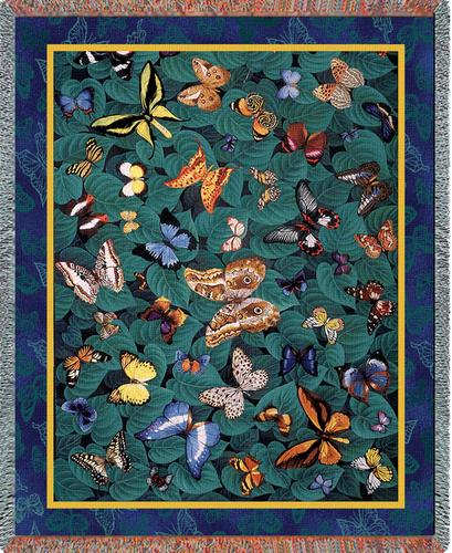 Butterfly Dance Tapestry Throw, 54in x 70in