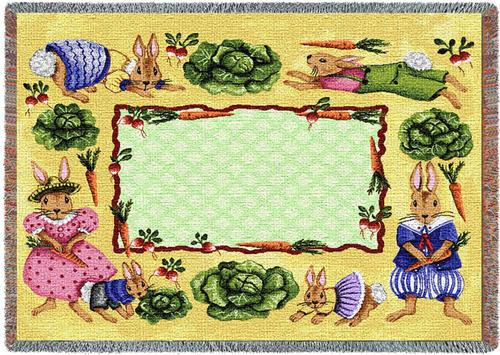 Cabbage Patch Tapestry Throw, 53in x 53in