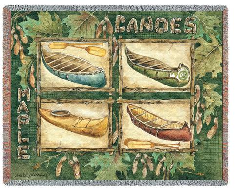 Canoes Tapestry Throw, 53in x 70in