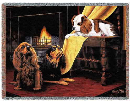 Cavalier King Charles Spaniel Tapestry Throw, 70in x 53in