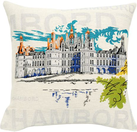 Chambord Castle Tapestry Cushion Cover - Pop Home Decor Collection, 18in x 18in cushion cover