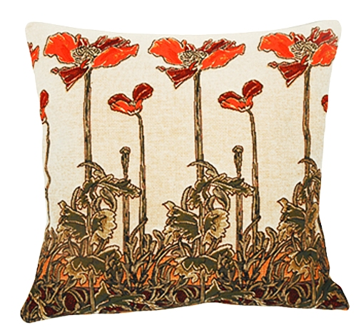 Champ Art Nouveau Tapestry Cushion Cover - European Home Decor Collection, 18in x 18in cushion cover