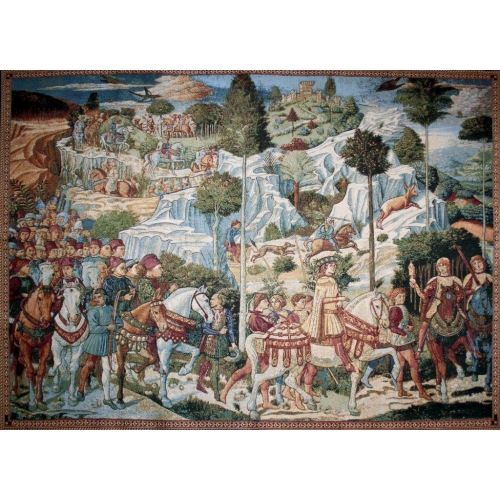 Procession of the Magi Tapestry Wall Hanging - from the painting of Benozzo Gozzoli, 12in X 19in