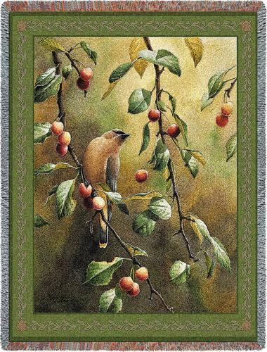 Cherry Chase Tapestry Throw, 54in x 70in