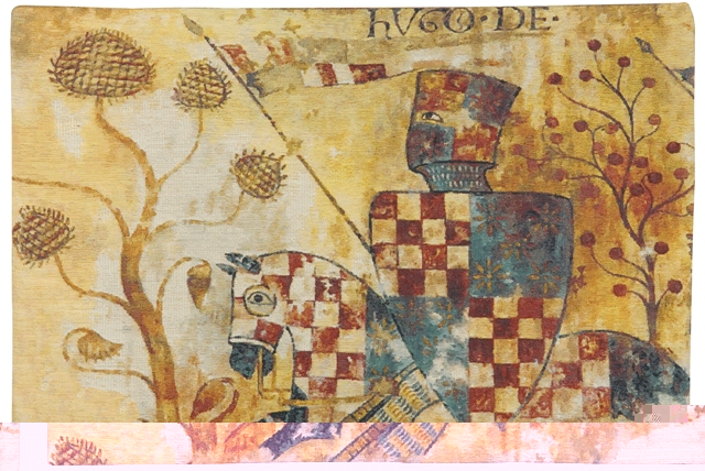 Chevaliers (Right Side) Tapestry Wall Hanging, 26in x 38in