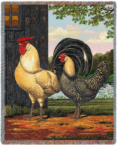 Chickens Tapestry Throw, 54in x 70in