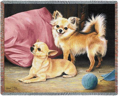 Chihuahua Tapestry Throw, 70in x 54in